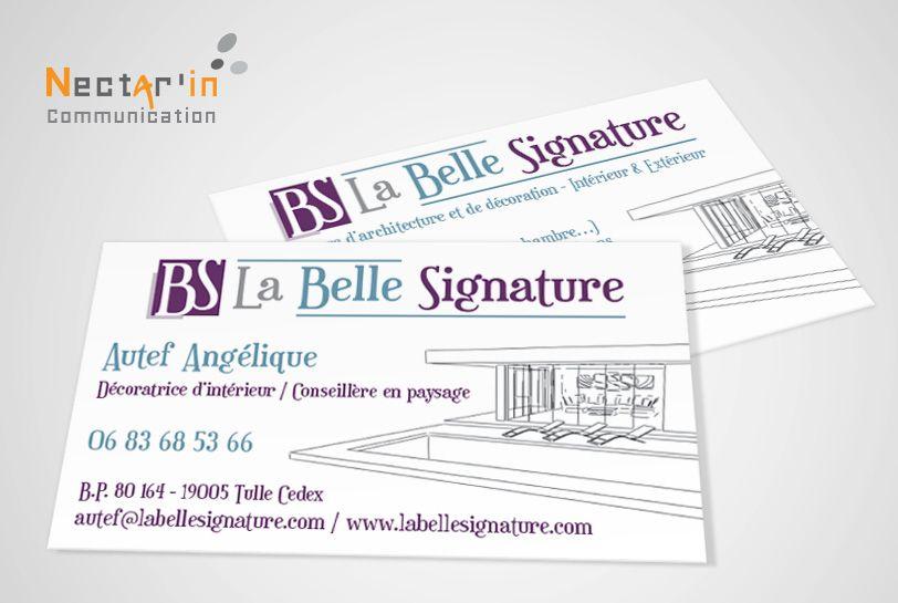 Carte De Visite Pour Lagence Dcoration Intrieur La Belle