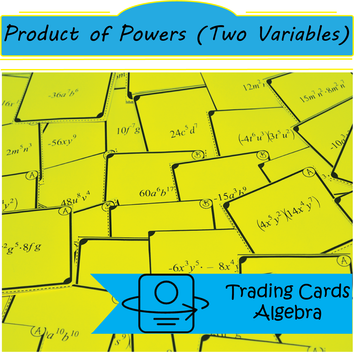 Trading Cards Multiplying Powers With Two Variables