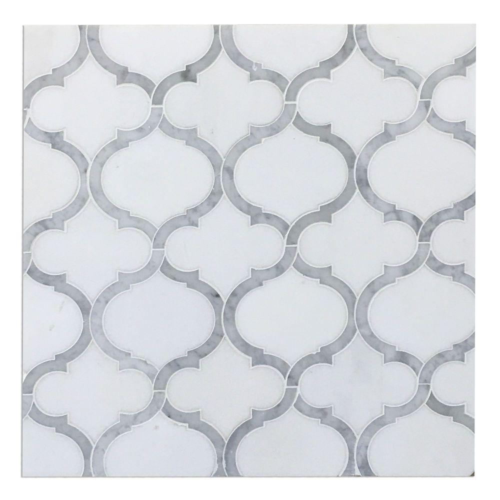 marrakech arabesque lantern mosaic tile carrara u0026 thassos white marble tile diy