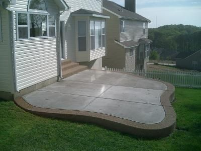 Patio With Traditional Concrete An Exposed Aggregate