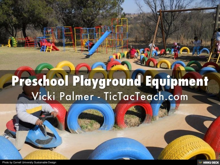 What should you consider when buying preschool playground equipment? www.tictacteach.com