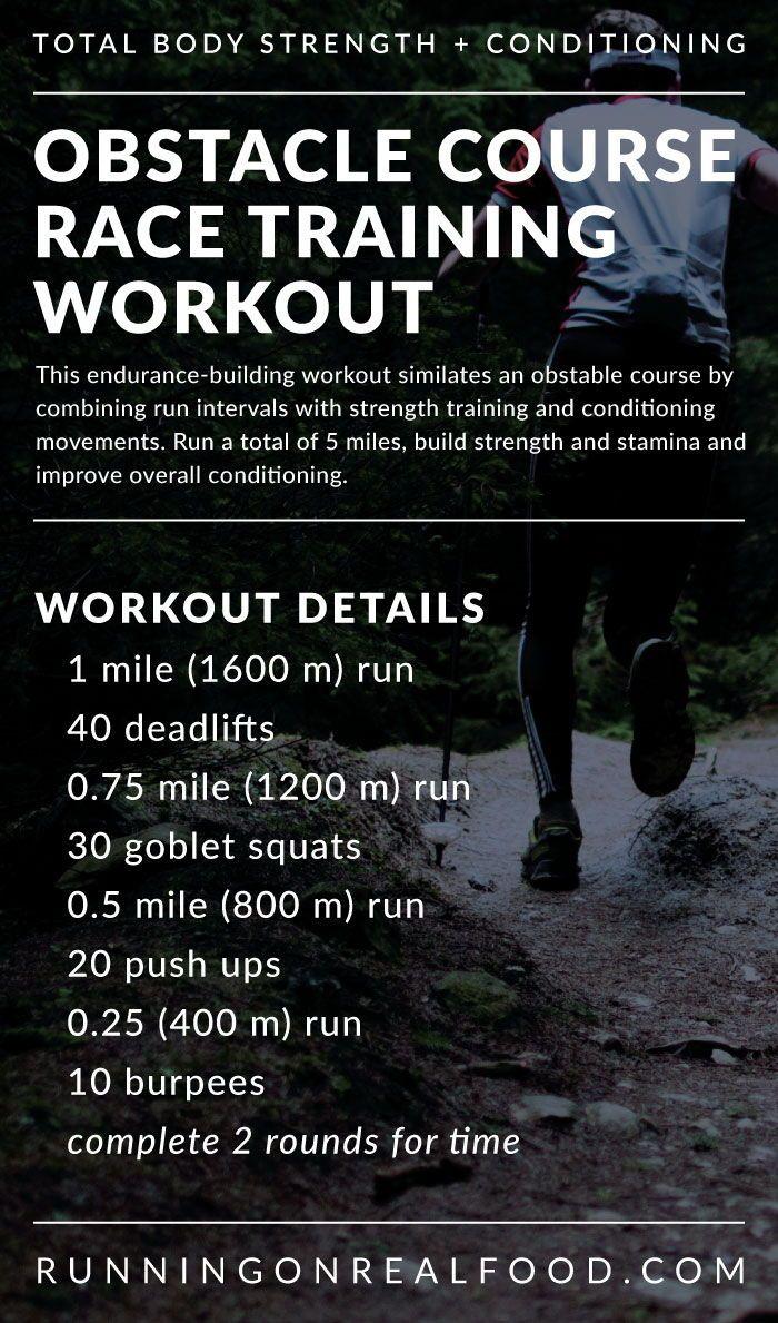 Tough Mudder Training Workout - Running on Real Food