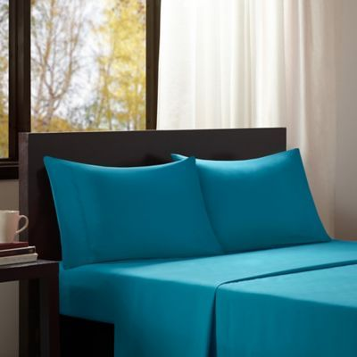 Intelligent Design Microfiber Twin XL Sheet Set In Teal   Products