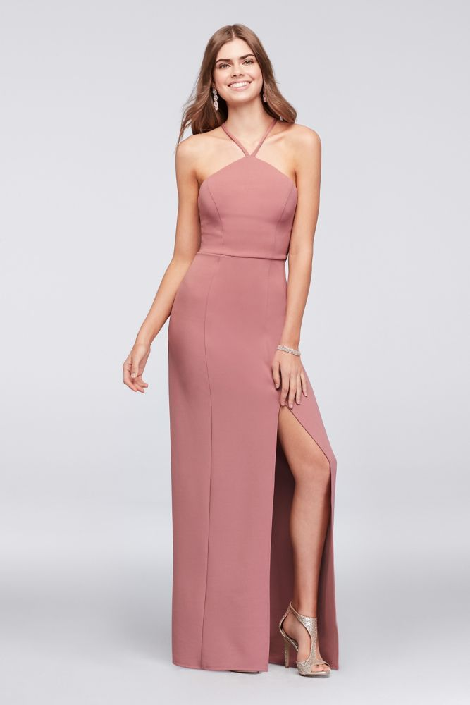 88045d592121 Stretch Crepe Sheath Gown with Strappy Back | *Clothing > Dresses ...
