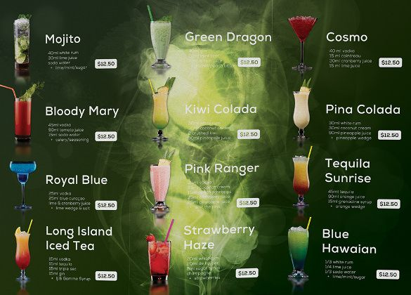 Image Result For Editable Fiery Cocktail Menucard  Menu Card