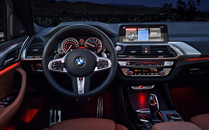 Download Wallpapers Interior Bmw X3 4k 2018 Cars Dashboard German Cars Bmw Besthqwallpapers Com Bmw X3 New Bmw X3 New Bmw
