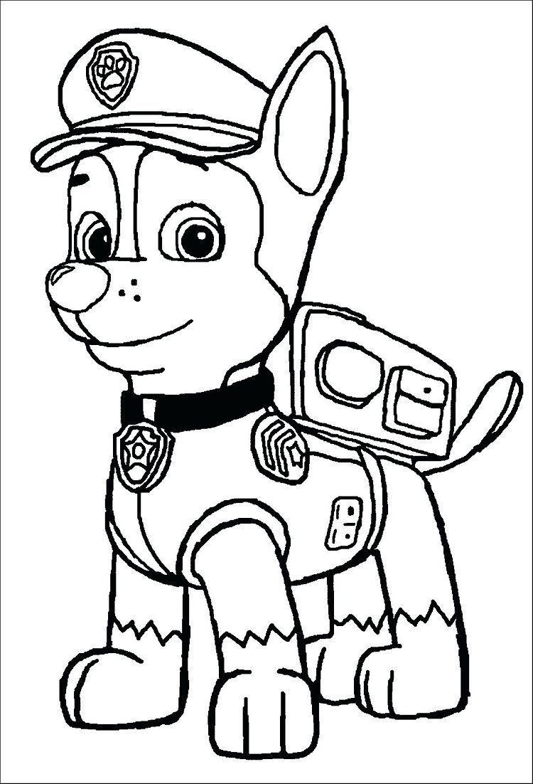 chase paw patrol coloring pages Paw Patrol Coloring Pages Chase | Coloring Pages Ideas | Paw  chase paw patrol coloring pages