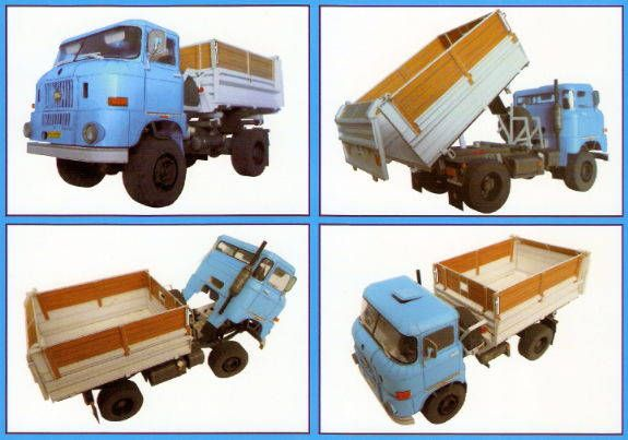 this vehicle paper model is an ifa w50  a multipurpose