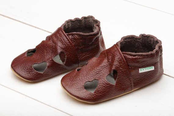 7779a615b4e73 Dark Brown Baby Shoes, Soft Sole Baby Shoes, Leather Baby Sandals ...