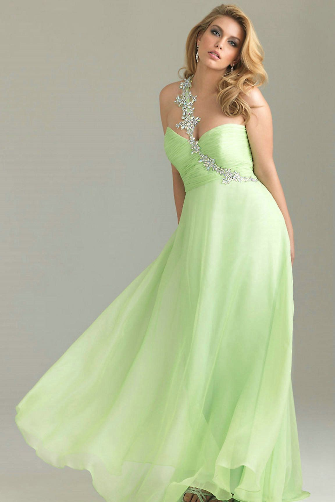 light lime green bridesmaid dresses
