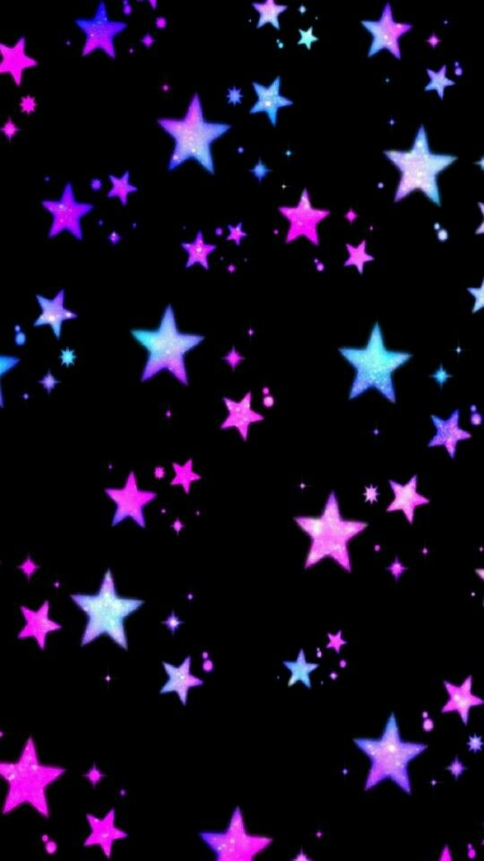 Black Pink Purple Stars Wallpaper By Artist Unknown Star Wallpaper Neon Wallpaper Pretty Wallpapers
