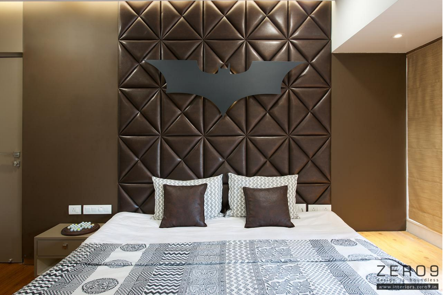 Creative Bed Back Design By Prashant Chauhan Creative Head Of Zero 9 Country Style Bedroom Interior Architecture Bedroom Bed Back Wall Design