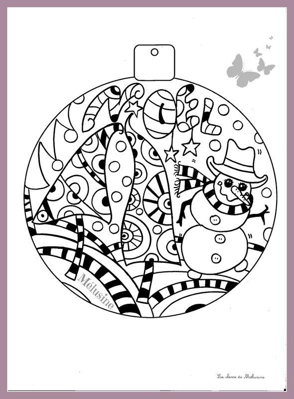 Petit Coloriage De Noël Pour Le Plaisir La Classe De