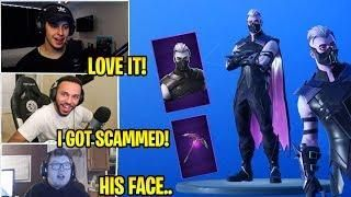 Streamers *LOVE/HATE* SANCTUM SKIN & MOONRISE PICKAXE + COVEN CAPE! (October 18 Item Shop) Fortnite
