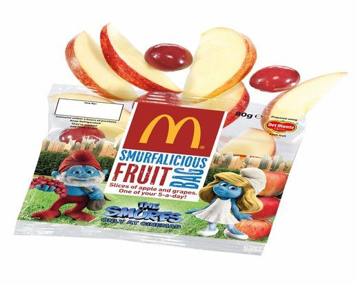 Ronald McDonald is the Joe Camel of fast food, but the answer isn't to send him into schools to market fruit: http://beyondchron.org/marketing-food-kids-con/