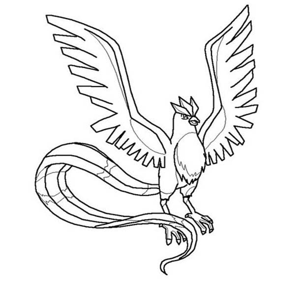 Pokemom Articuno Coloring Page For Kids Coloring Sun Coloring Pages For Kids Coloring Pages Coloring Pages For Boys