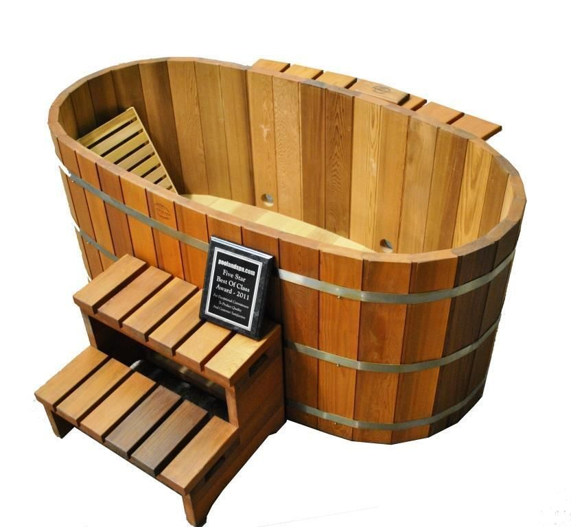 Japanese Wood Ofuro Soaking Tub for 2 - Wood Fired Heater ...