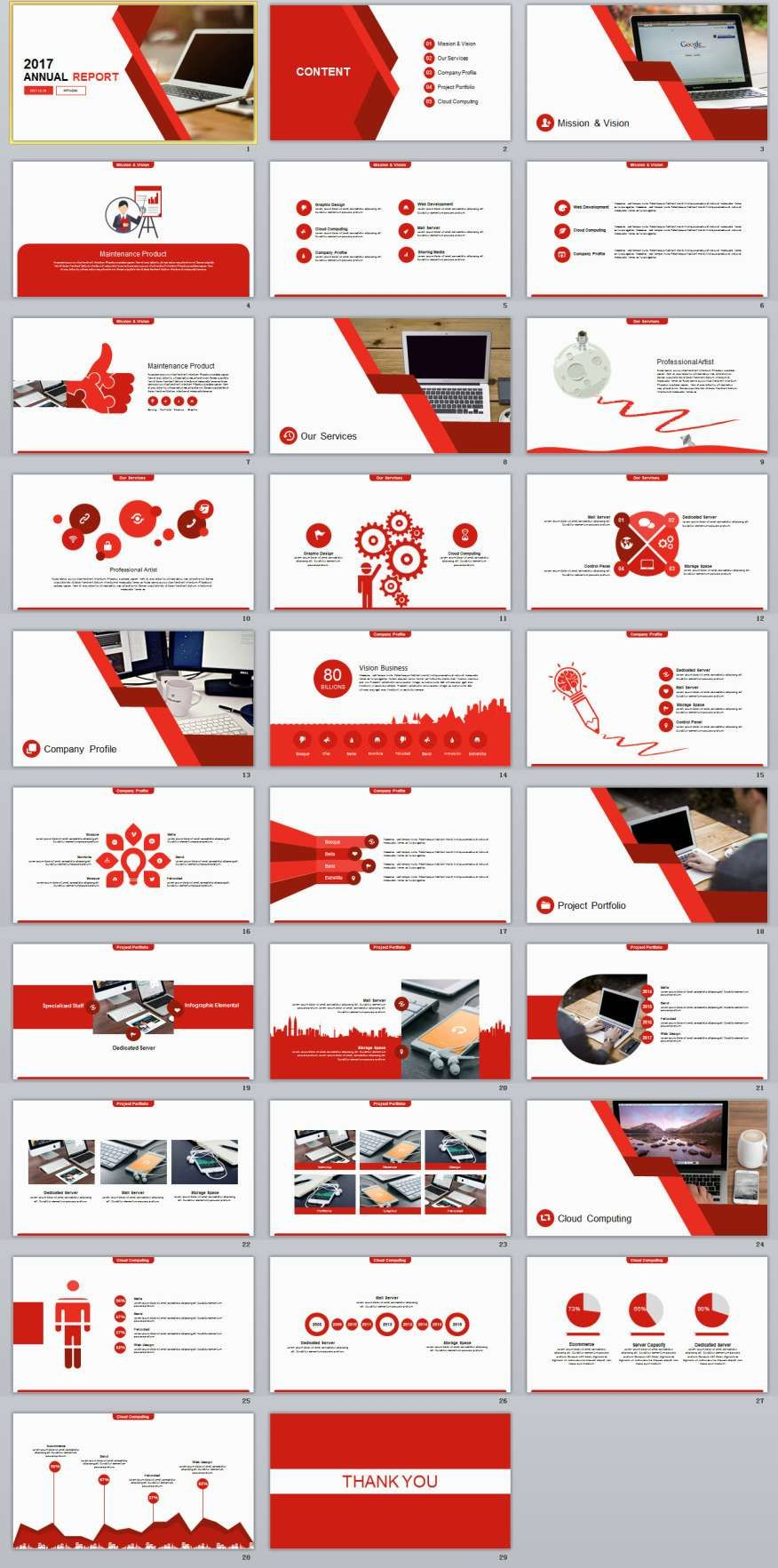 29 red annual report powerpoint templates apresentao e identidade 29 red annual report powerpoint templates toneelgroepblik Image collections