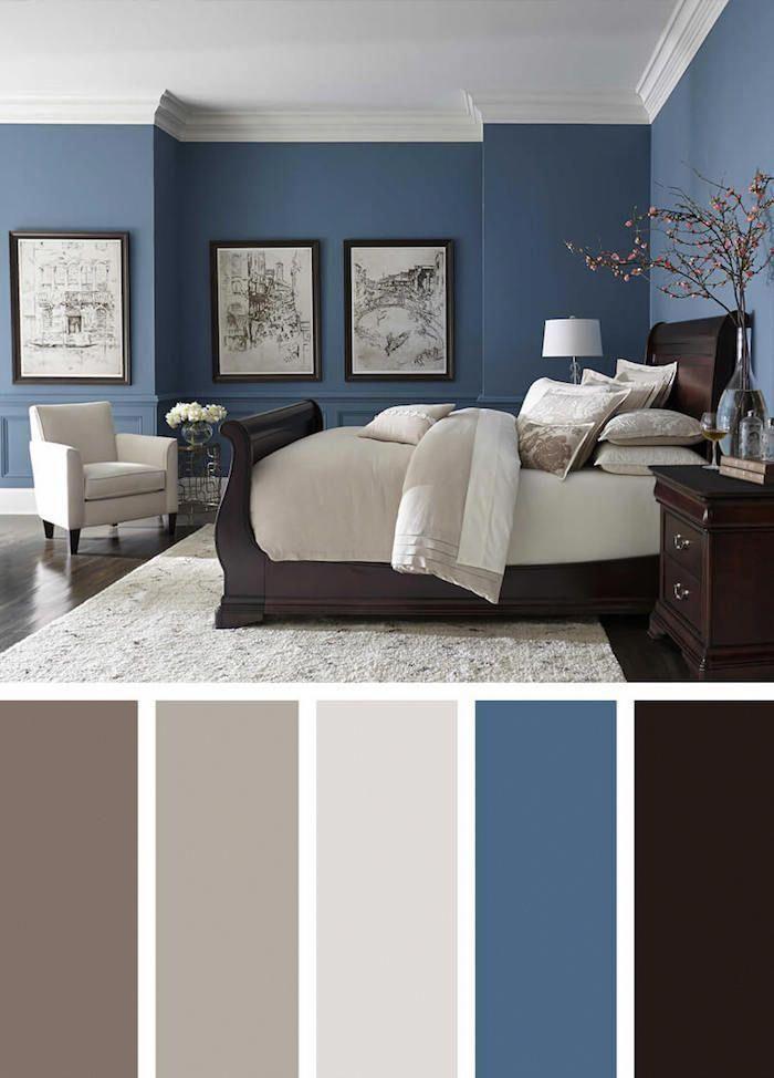 chambre parentale moderne couleur mur