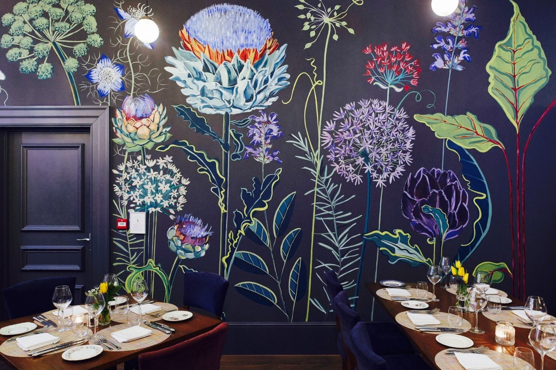 Allium Mural At Church Street Tavern