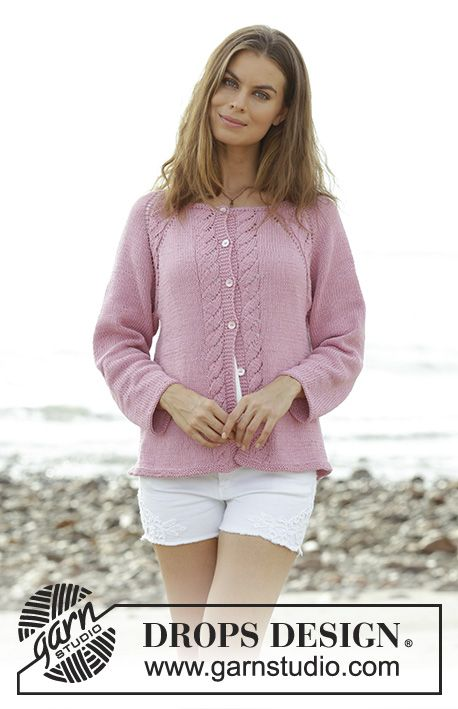 Peonia Cardigan / DROPS 191-19 - Free knitting patterns by DROPS Design