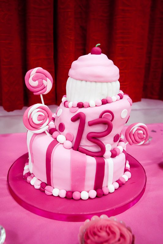 pink 13th birthday cake decorations 13th Birthday Cakes for Girls