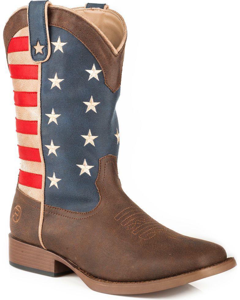 c1bccef2263 Roper Women's American Patriot Stars & Stripes Cowgirl Boots ...