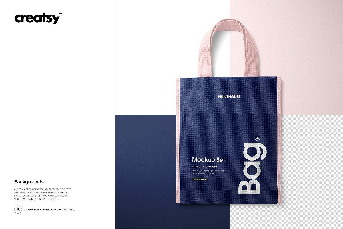 Download Non Woven Tote Bag Mockup Set Woven Tote Bag Shopping Bag Design Bag Mockup