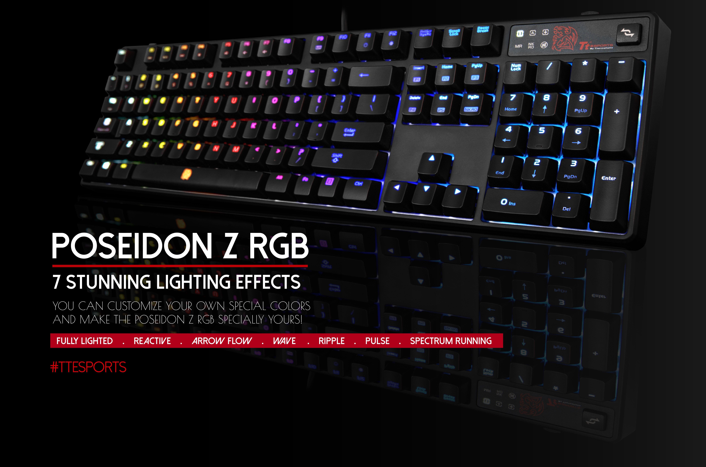 The Poseidon Z Rgb Gaming Keyboard A Simple Yet Astonishing Spectrum Keyboard It Offers Extreme Customization Options For Users T Poseidon Rgb Blue Keyboard