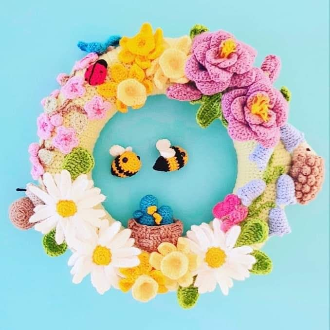 Photo of Spectacular Spring Wreath – The Crochet Craft Co