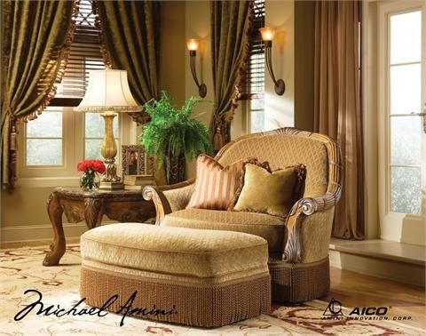 Incredible Michael Amini Chair And A Half With Ottoman Eden Woodtrim Cjindustries Chair Design For Home Cjindustriesco