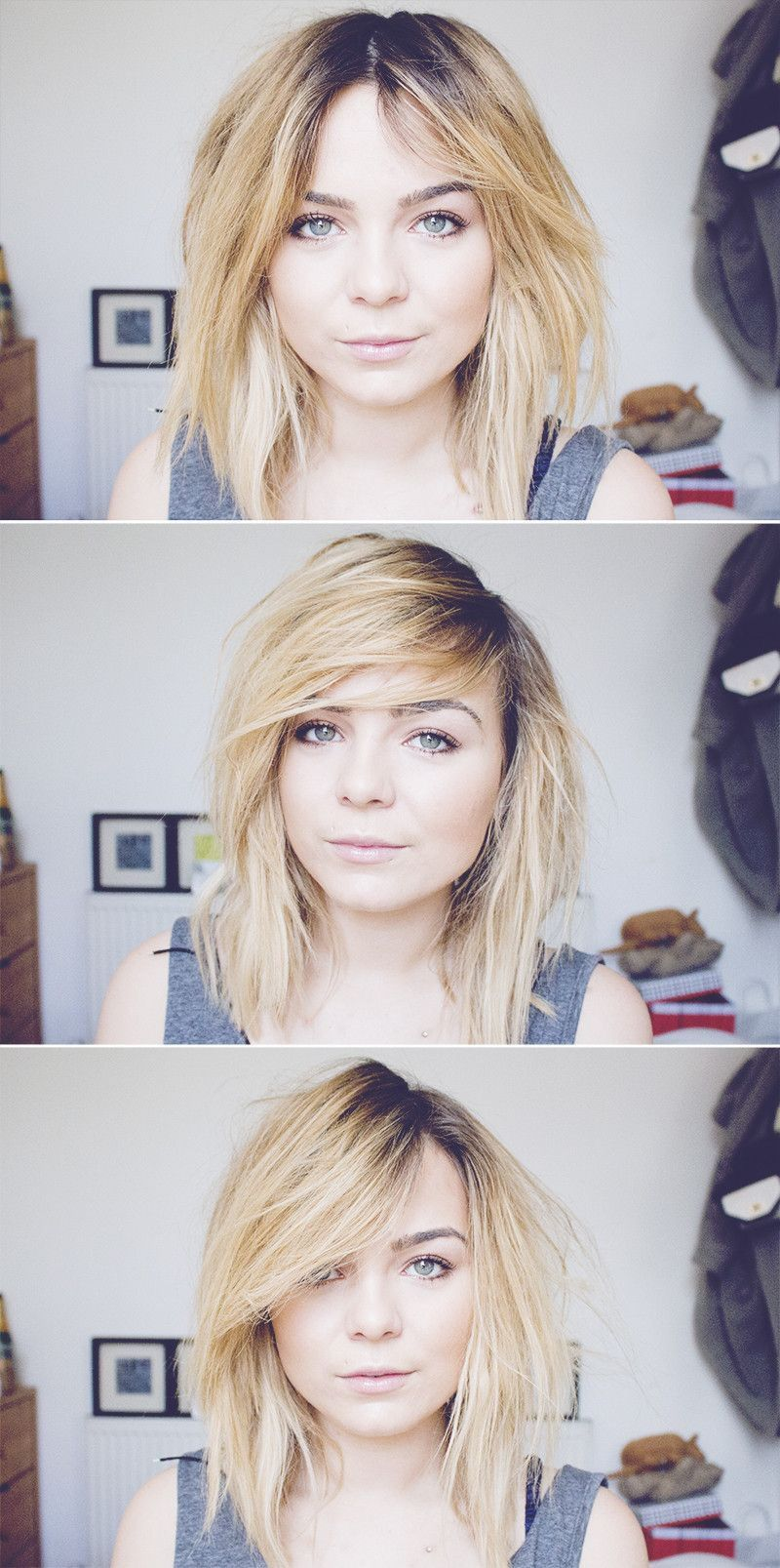 Lily melrose bob and different partings hair inspo pinterest