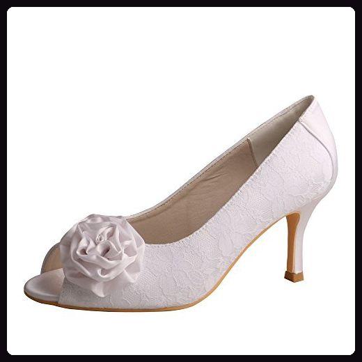 Damen Peep Toes, Weiß - weiß - Größe: 35 Minitoo