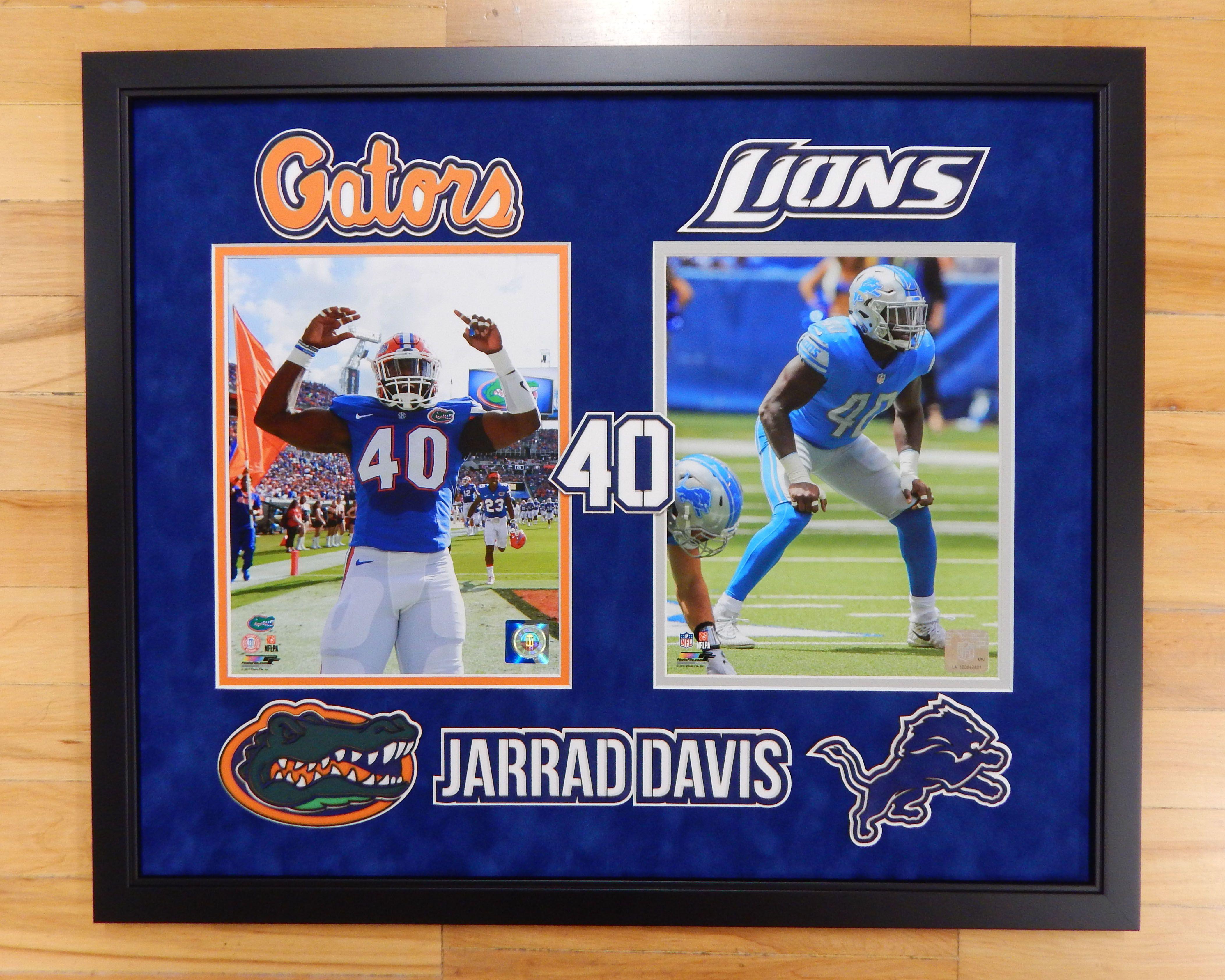 The Art of Custom Framing. Custom Jarrad Davis memorabilia piece ...