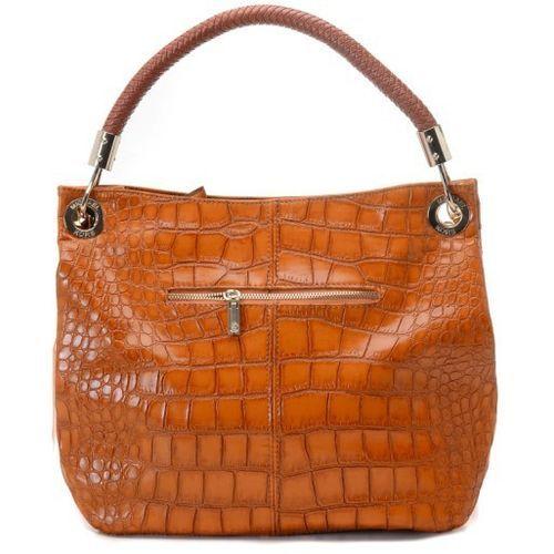 6746b7d5877a Michael Kors Skorpios Large Shoulder Bag Crocodile Embossed Barley ...