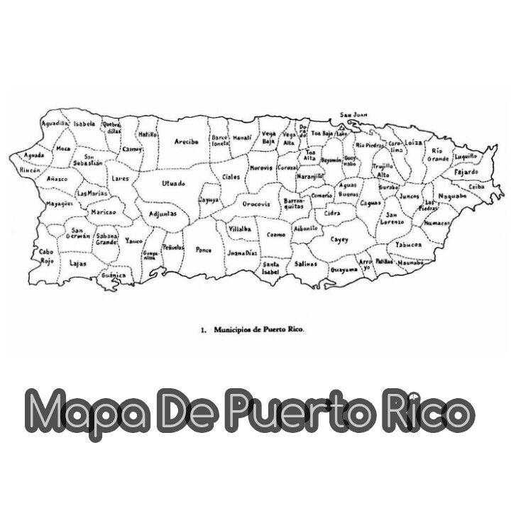 Mapa De Puerto Rico Puerto Rico Map Puerto Rico Vacation Puerto Rico