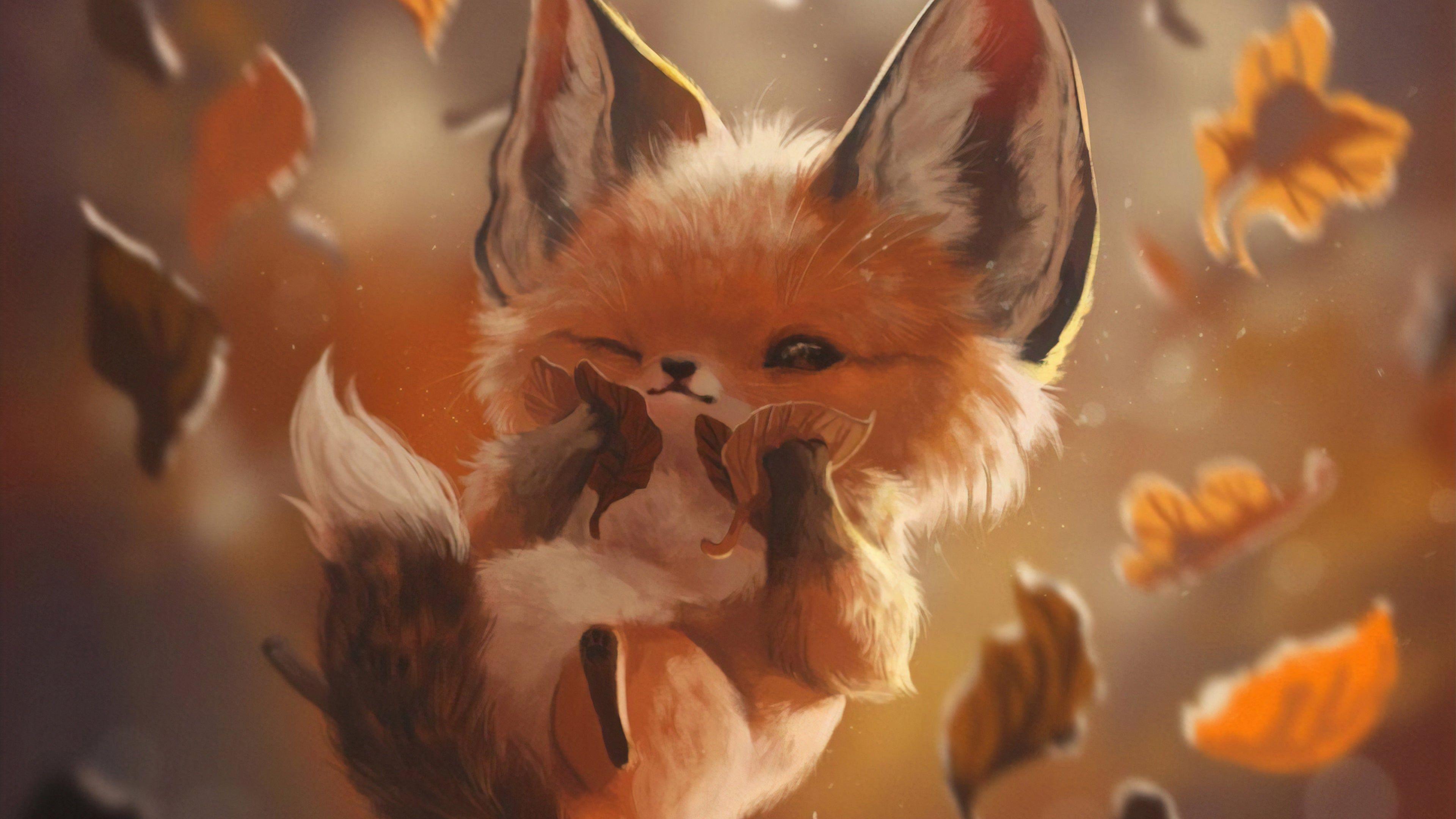 Autumn Lover Fox wallpaper | Cute wallpaper backgrounds, Active ...