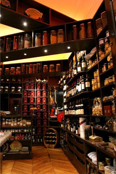 Epicerie Fine De Luxe Paris Wine Store French Cafe Coffee Shop