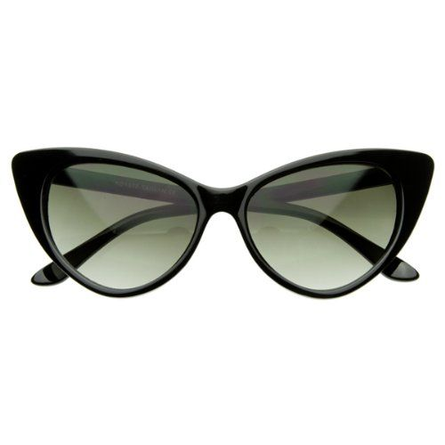 bdf31b6131 Super Cateyes Vintage Inspired Fashion Mod Chic High Pointed Cat-Eye  Sunglasses (With Free