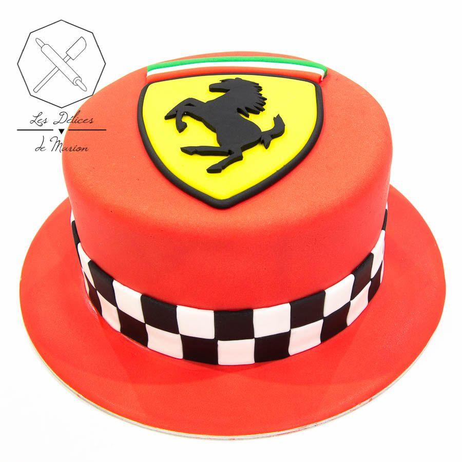 Cake design. Gâteau personnalisé en pâte à sucre sur le thème logo ...