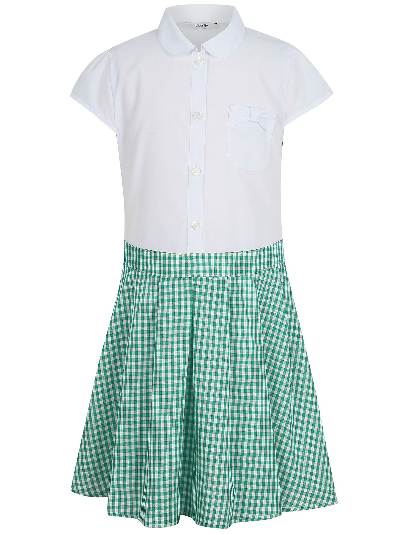 4a449dbc12 Girls School Gingham Dress – Green | School | George at ASDA ...