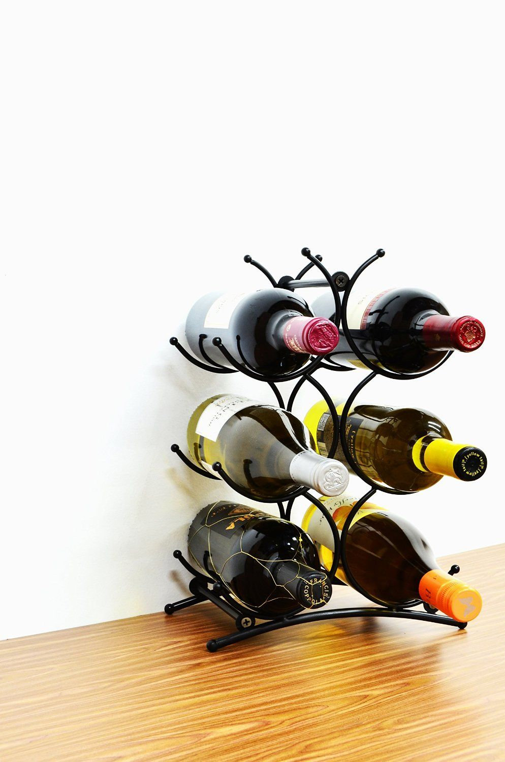 Superiore Livello Turin Wine Rack 6 Bottle Countertop Metal Wine