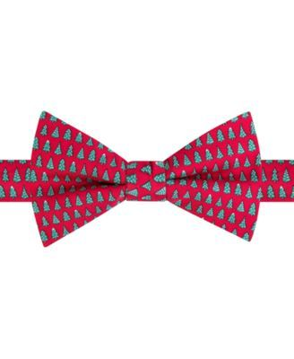 TOMMY HILFIGER Tommy Hilfiger Men's Snow Tree Print Pre-Tied Bow Tie. #tommyhilfiger # tuxedos