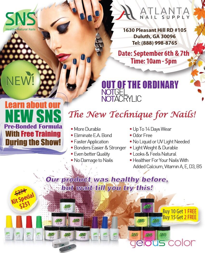 Labor Day weekend Sale! SNS Nail Show Semi Annual Sale Specials Don ...