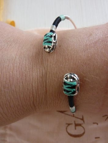 bracelet gas neuf / Bleu, bleu marine, bleu turquoise / Argent