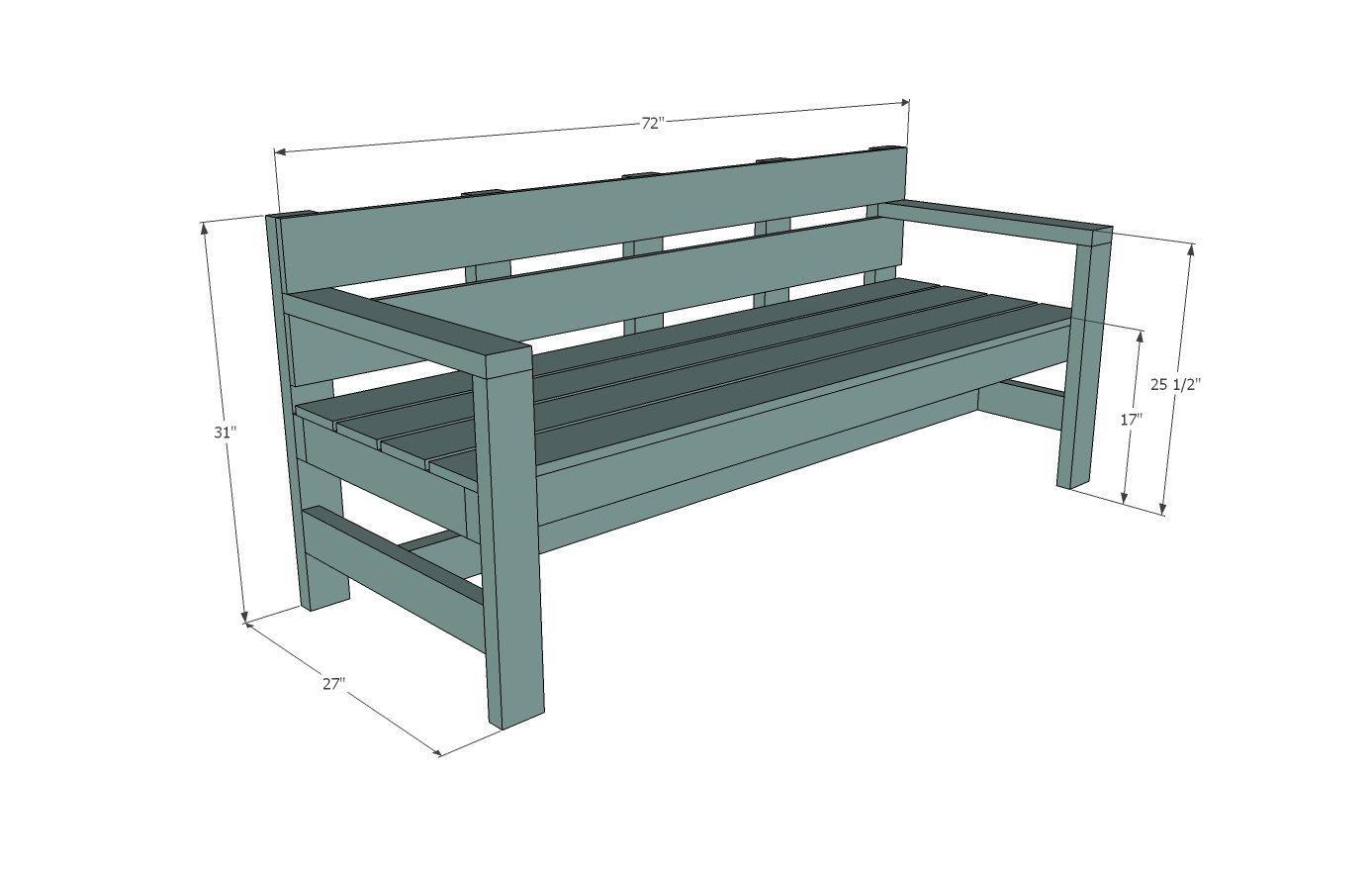 Build A Modern Park Bench