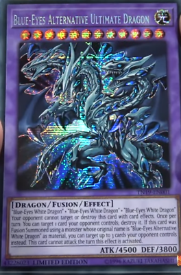 Yu Gi Oh Blue Eyes Alternative Ultimate Dragon Prismatic Secret Rare Tn19 En001 Ebay Ultimate Dragon Dragon Blue Eyes