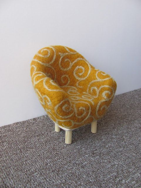 Needle felted chair