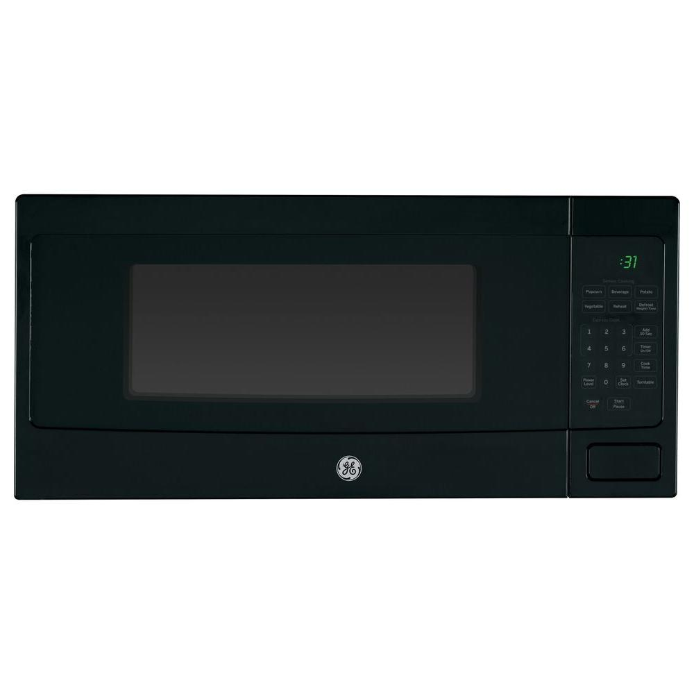 Ge Profile 1 1 Cu Ft Countertop Microwave In Black Stainless