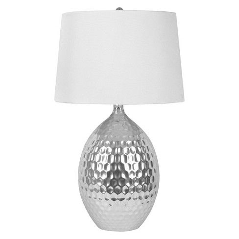 J Hunt Silver Ceramic Table Lamp Target
